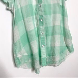 Anthropologie Tops - Anthropologie Maeve Gingham Flutter Sleeve Top S